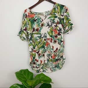 4/$25 H&M Vacation Skirt Floral Jungle Top Size 6